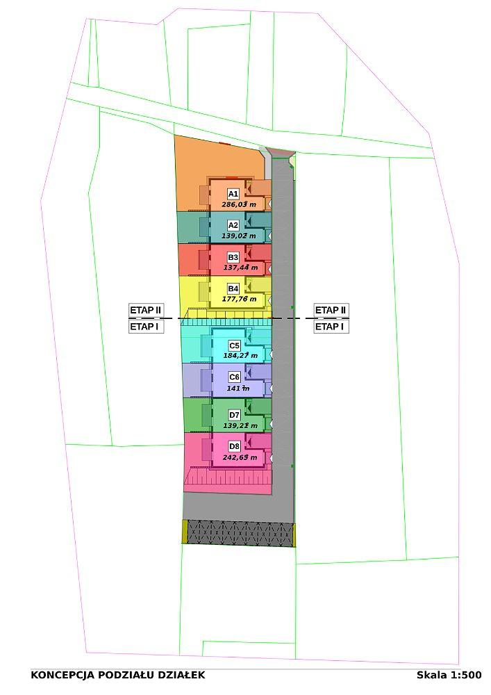 Zagospodarowanie nowe domy mikołów - podział działek-pdf